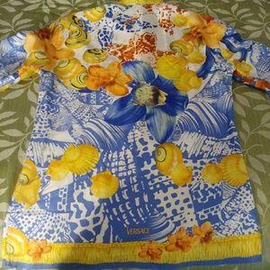 Versace Shirts - Gianni Versace Rare Vintage Silk Men's Shirt